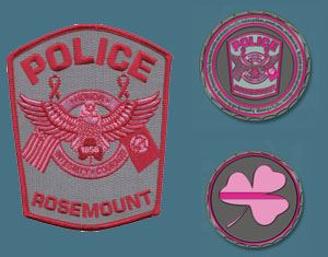 Pink Patch and coins graphic