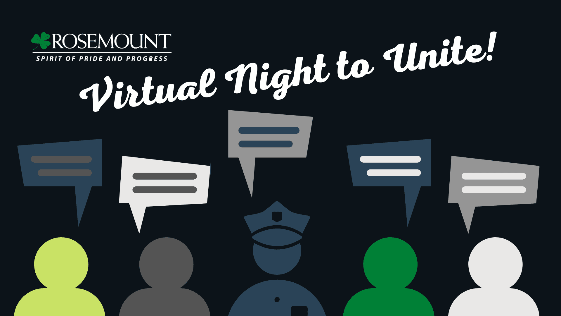 Virtual Night to Unite event logo
